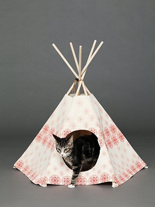 Printed Cat Tipi