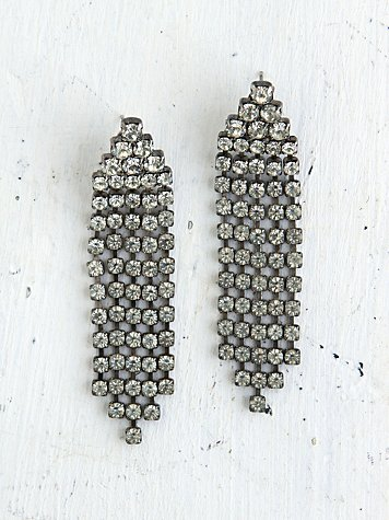 Vintage Crystal Rhinestone Dangle Earrings