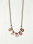 Color Center Coin Necklace