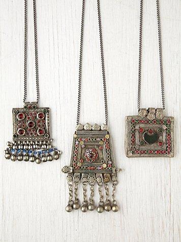 Vintage Kuchi Fringe Pendants