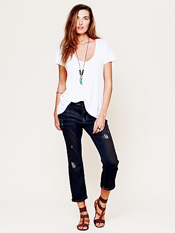 5 Pocket Straight Leg Slouch Jeans