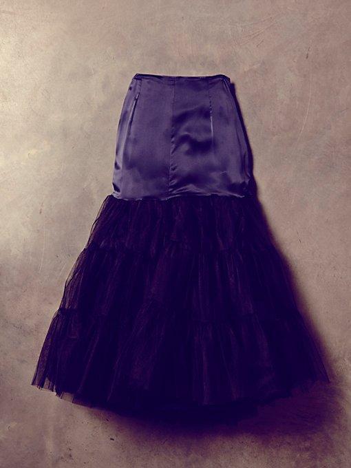 Vintage Black Tulle Skirt