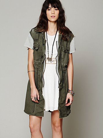 Embroidered Cargo Vest