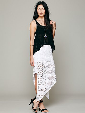 Skinny Love Crochet Lace Skirt
