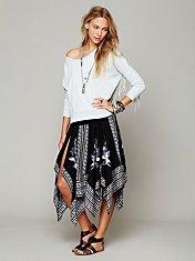 Printed Squared Off Slip Skirt
