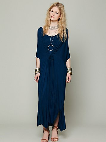 Cold Shoulder Long Kaftan