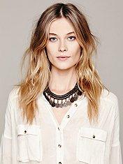 Pewter Short Chain Collar