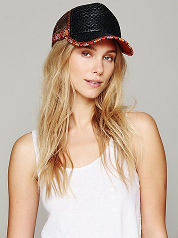 Mario Straw Trucker Hat