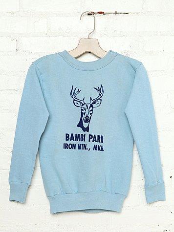 Vintage Bambi Park Sweatshirt