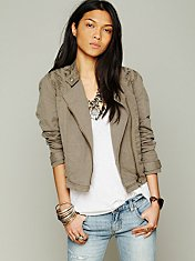 Cutouts In Linen Jacket
