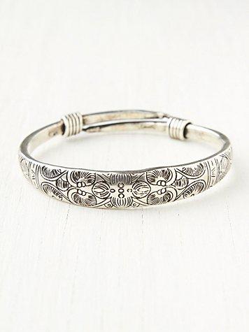 Etched Skinny Bracelet