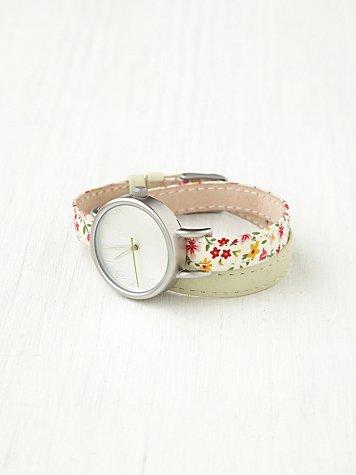 Petal Print Wrap Watch