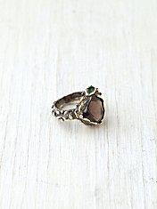 Smokey Mountain Stone Ring