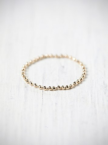 Tiny Gold Chain Ring