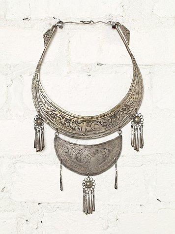 Vintage Metal Plate Necklace