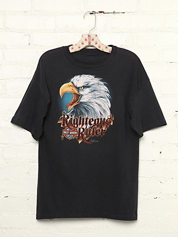 Vintage Harley Davidson Righteous Rider Graphic Tee