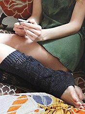 Open Stitch Legwarmer