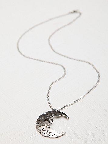 Henna Crescent Necklace