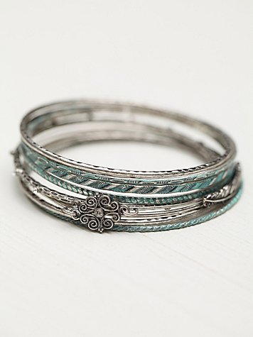 Filigree Skinny Hard Bangle Set