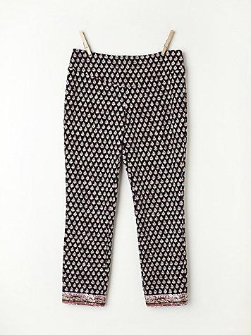 Print Yoga Crop Pant