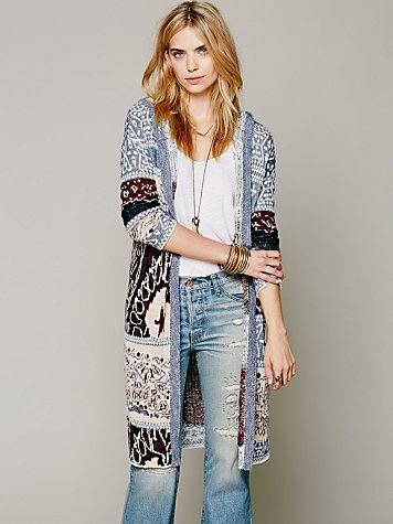 Americana Hooded Cardigan