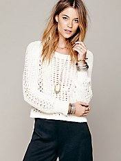Cropped Zip Back Pullover
