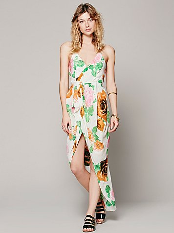 Cami Petal Wrap Dress