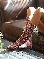 Hand Knit Marl Thigh Hi