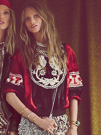FP New Romantics Sunprint Velvet Pullover