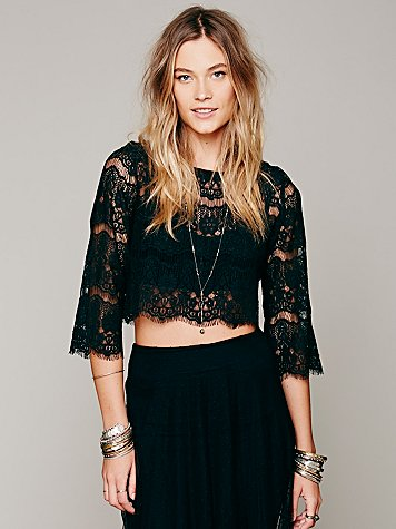 Sing A Lacey Tune Crop Top