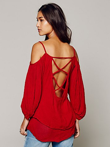 Open Shoulder Cross Back Tunic
