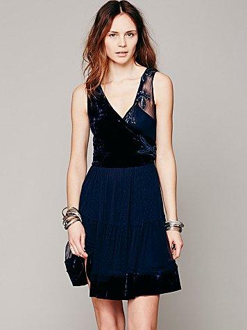 FP X Grecian Mesh Fit-n-Flare Dress
