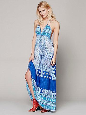 Printed Halter Dress