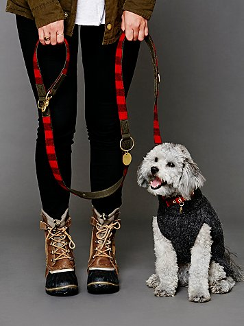 Buffalo Plaid Canvas Leash