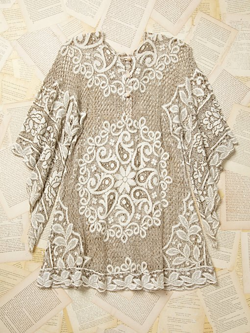 Vintage Net Peasant Top