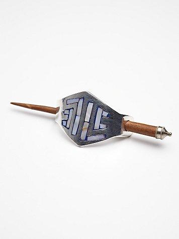 Abalone Metal Bun Holder