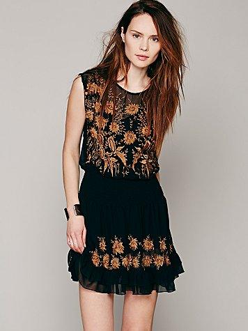 Garden Bloom Embroidered Dress