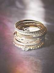 Coin Drop Bangle Set