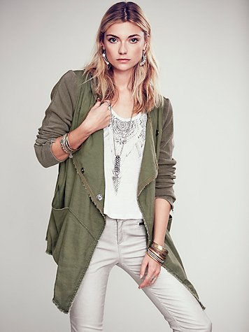 Drippy Linen Jacket