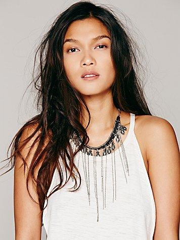 Ball Chain Fringe Collar
