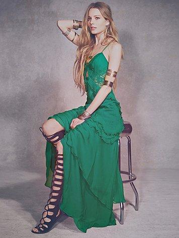 Solid Ruffle Dress