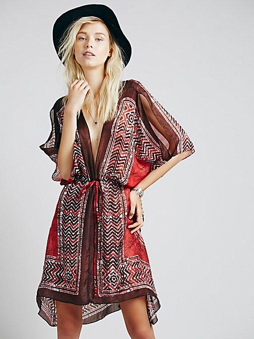 Batik Cascading Dress