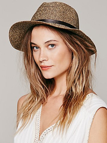 Lucille Leather Banded Straw Hat