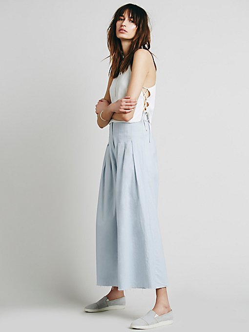 FP ONE High Waisted Pintuck Culottes