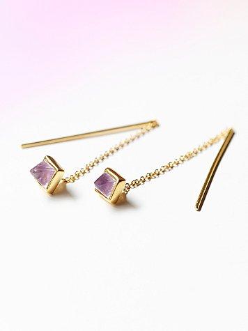Violet Threader Earring