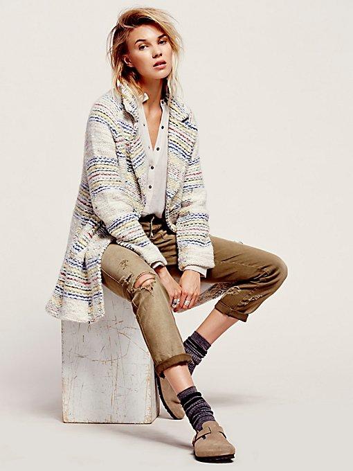 Ivory Plaid Wool Coat