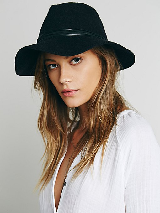 Wrapped Leather Band Hat