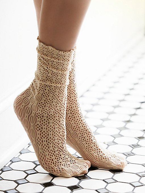 Netted Ankle Sock