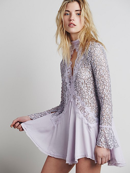 Secret Origins Pieced Lace Tunic