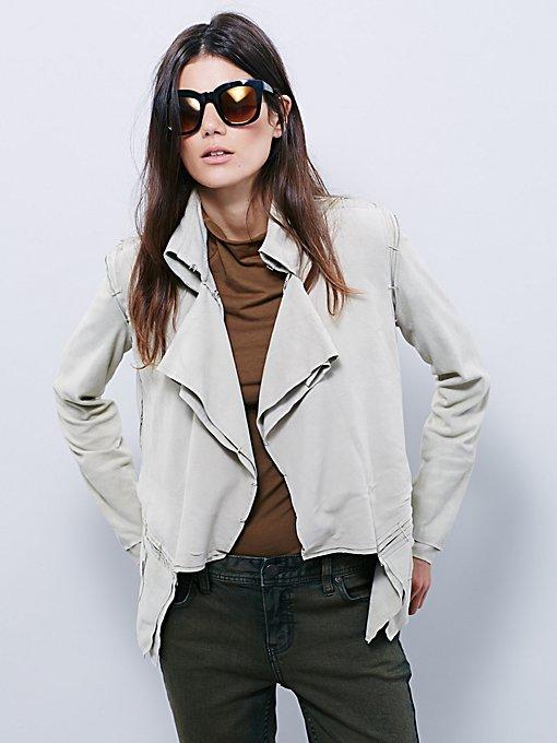 Suede Ruffle Jacket
